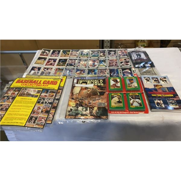 LOT OF SPORTS COLLECTABLES, BASEBALL ALL TIME GREATS, HOCKEY COLLECTABLES, COMICS