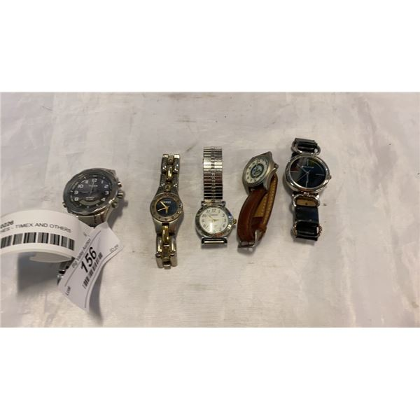5 WATCHES - TIMEX AND OTHERS