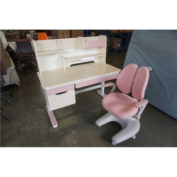 IGROW ADJUSTABLE HEIGHT DESK AND CHAIR - RETAIL $1900