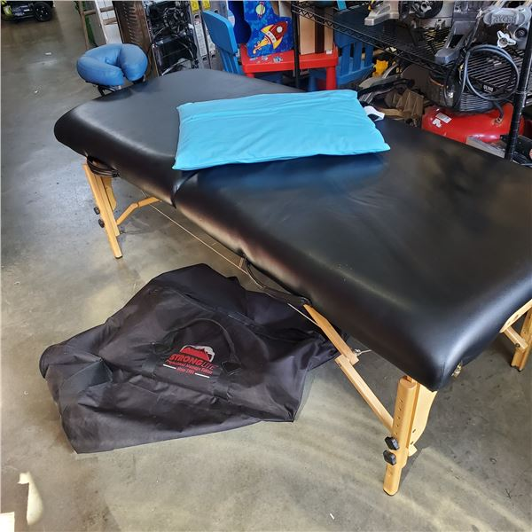 STRONGLITE CLASSIC DELUXE FOLDING MASSAGE TABLE WITH CARRY BAG Retail $429