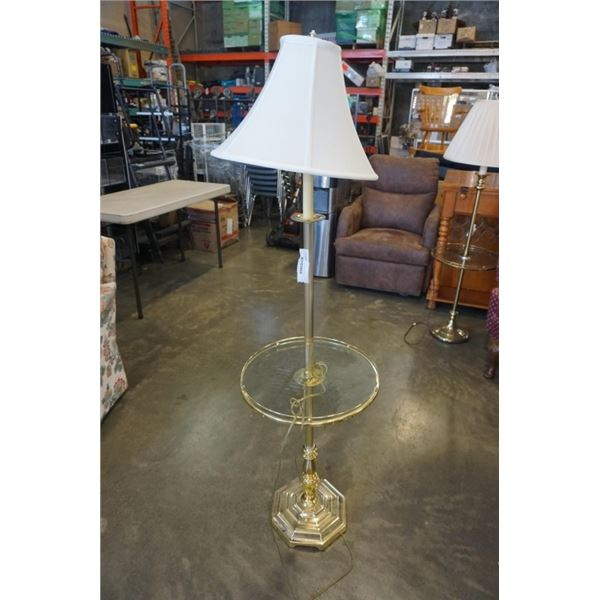 MCM BRASS FLOOR LAMP WITH SHADE