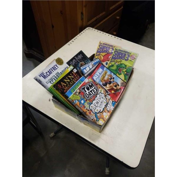 LOT OF DVDS AND KIDS BOOKS - SUPER MARIO BROS SERIES, HARRY POTTER