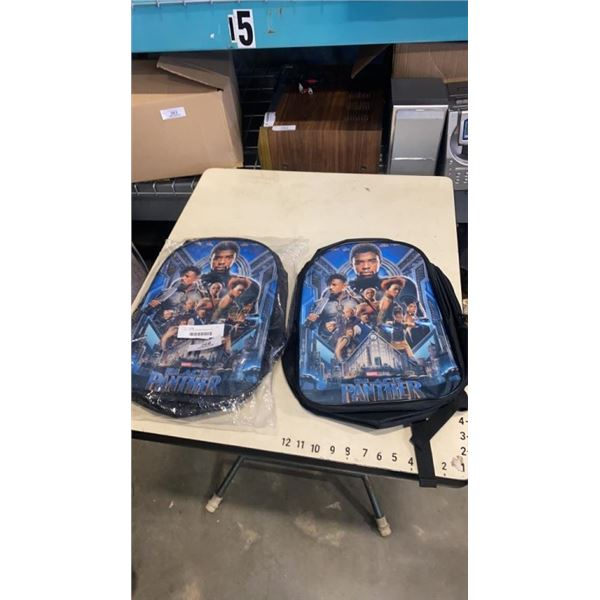 2 NEW BLACK PANTHER BACKPACKS FEATURING THE LATE CHADWICK BOSEMAN
