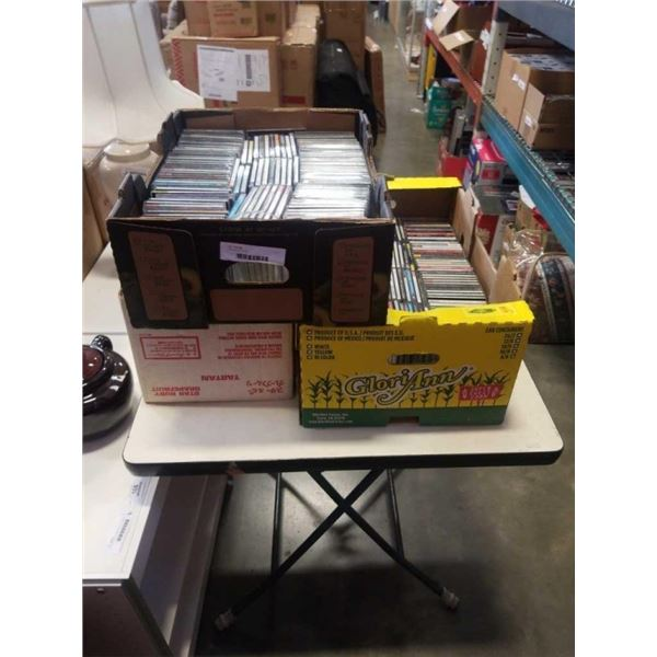 3 BOXES OF CD'S