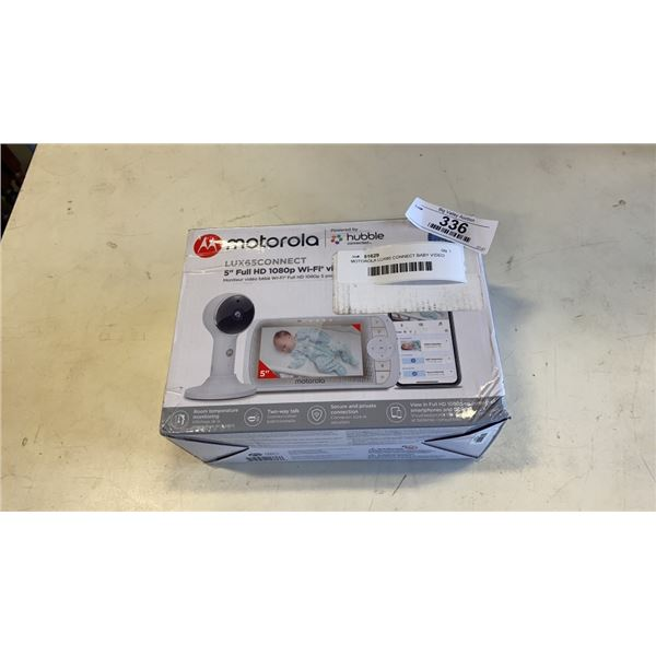 MOTOROLA LUX65 CONNECT BABY VIDEO MONITOR - WORKING RETAIL $249