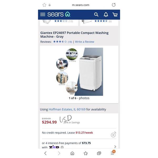 Giantex EP24697 Portable Compact Washing Machine - Gray