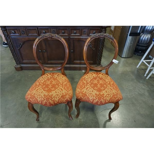 2 ANTIQUE HOOP BACK CHAIRS