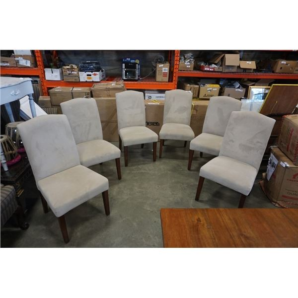 6 MICROFIBER DINING CHAIRS
