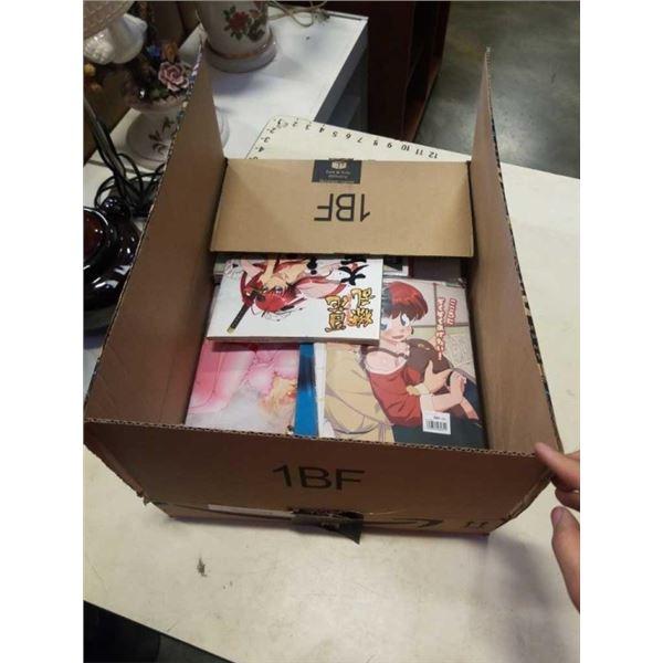 BOX OF ADULT ANIME GRAPHIC NOVELS, MANGA, DOUJINS