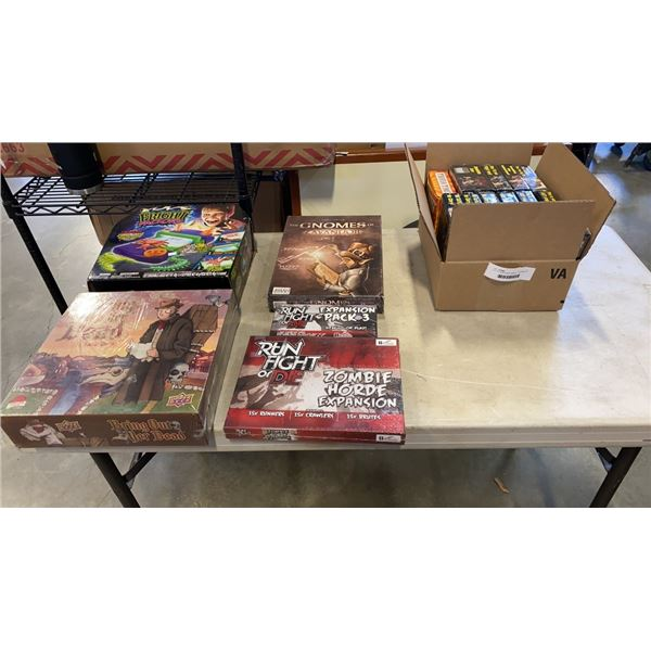 LOT OF NEW BOARD GAMES - 7 DIFFERENT ZOMBIES!!! EXPANSIONS,AND OTHER GAMES