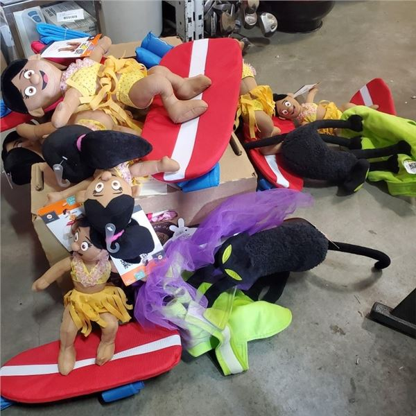 LOT OF NEW DOG COSTUMES APPROX 16