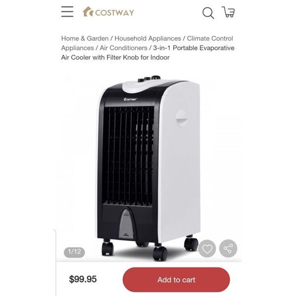COSTWAY 3 IN 1 EVAPORATIVE AIR COOLER RETAIL $99.95