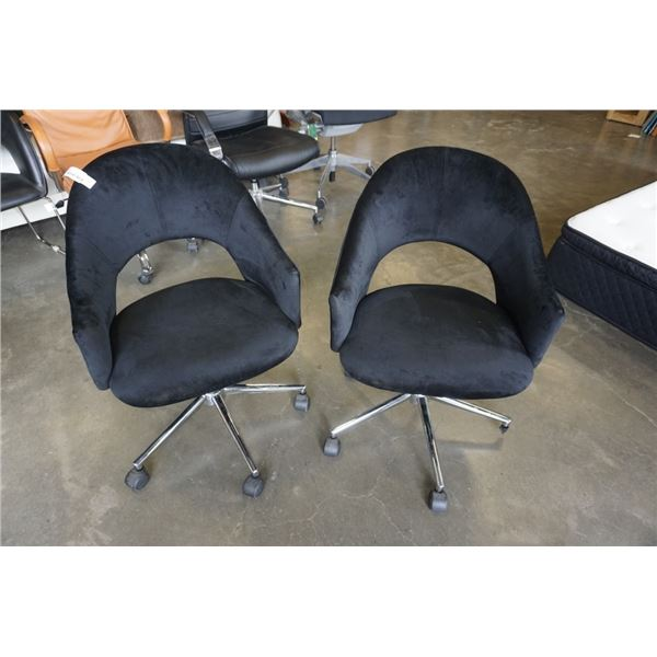 2 BLACK ROLLING CHAIRS