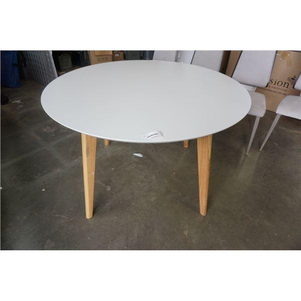ROUND WHITE WAYFAIR DINING TABLE