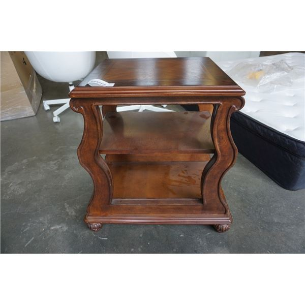 WOOD 3 TIER ENDTABLE, MADE IN MALAYSIA