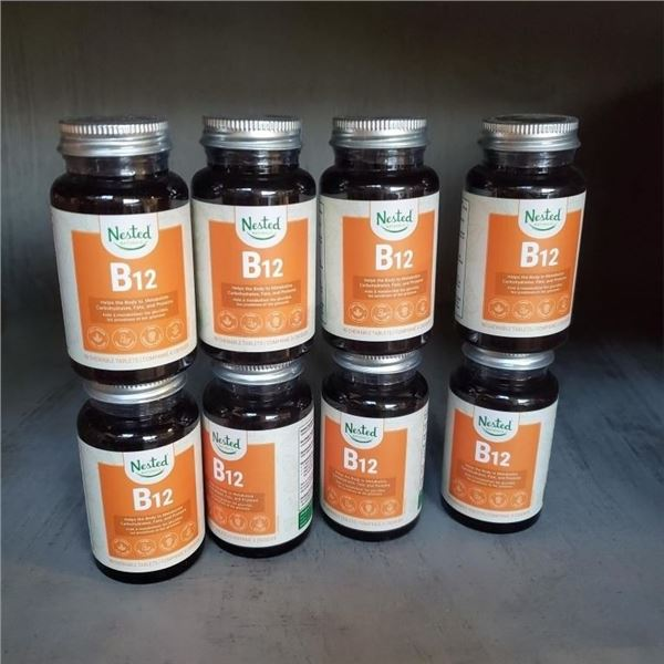 8 SEALED BOTTLE OF VITAMIN B12 PROMOTES ENERGY BOOST, MOOD SUPPORT AND METABILISM OPTIMIZER BB 10/20