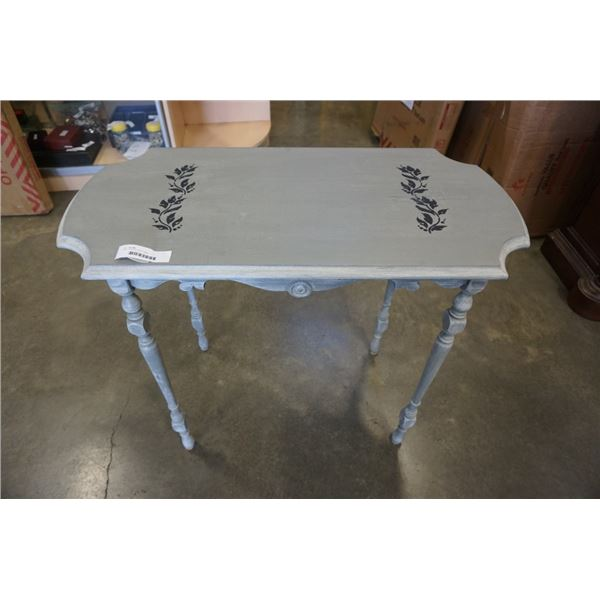 GREY PAINTED SIDE TABLE