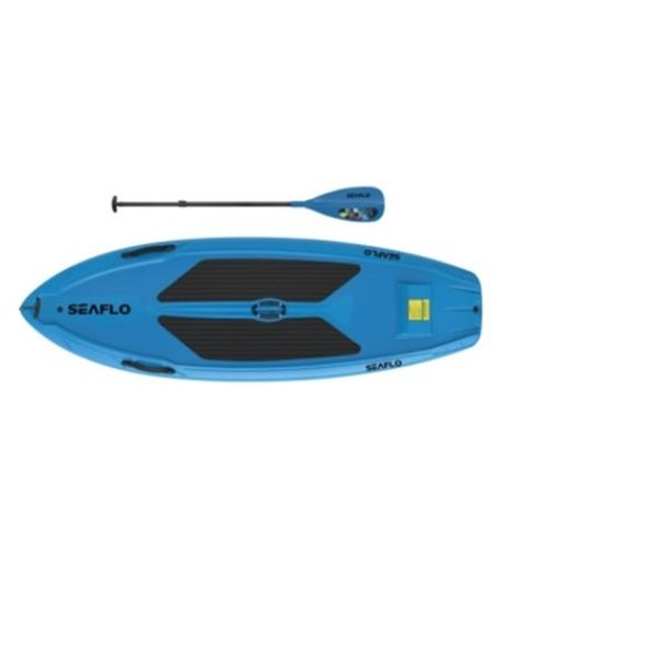 BRAND NEW BLUE 9.5FT SEAFLO STAND UP PADDLE BOARD W/ PADDLE