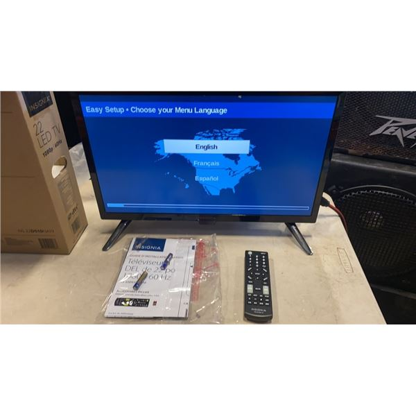 INSIGNIA 22 INCH LED TV - WORKING