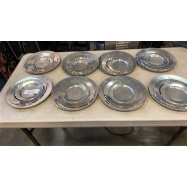 SERVICE FOR 8 ENGLISH WALLACE PEWTER PLATES