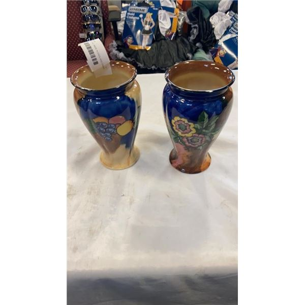 2 H&K TUNSTALL MADE IN ENGLAND VASES
