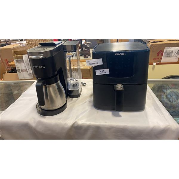 KEURIG COFFEE MAKER AND KALORIK AIR FRYER