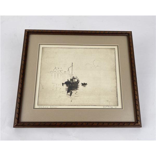 Cyril Berry California Artist Engraving