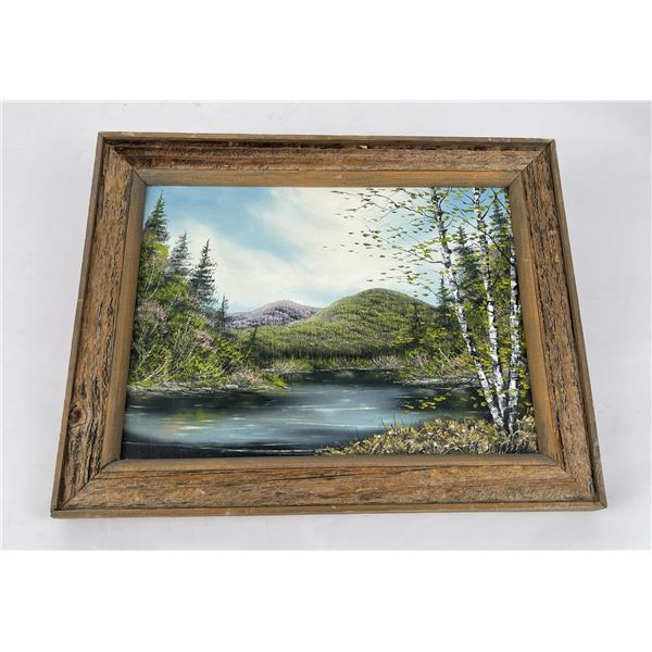 Montana Oil on Canvas Painting