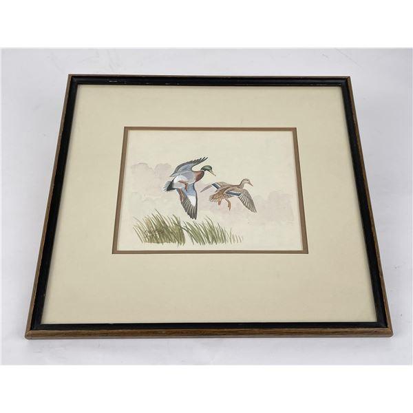 Ron Jenkins Missoula Montana Ducks Watercolor