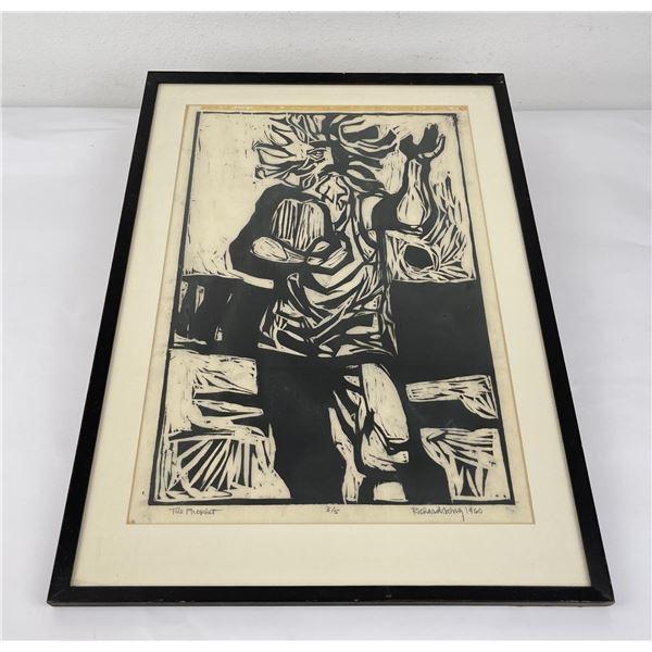 1960 Woodblock Print The Prophet