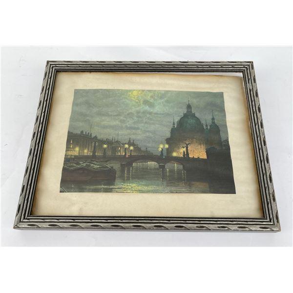Antique European Canal Print