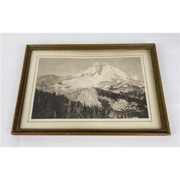 Antique Western Mountain Scene Photo