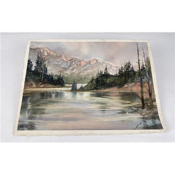 Montana Watercolor Painting