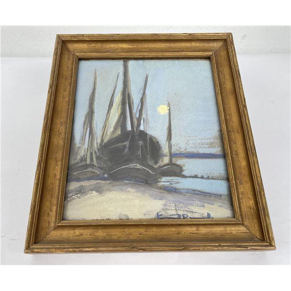 Painting of Sailboats