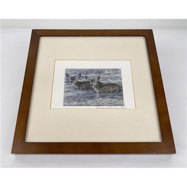 Signed and Numbered Montana Deer Print