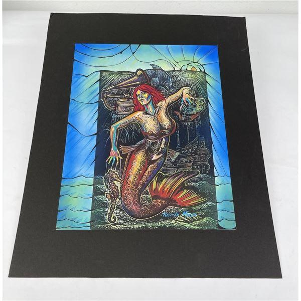 Ricardo Maya Mermaid Painting