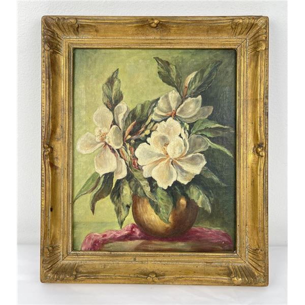 Antique Still Life Painting of Flowers