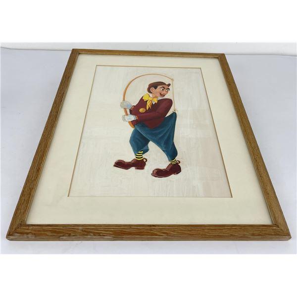 Cartoon Watercolor Painting Clown