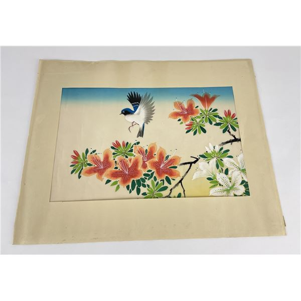Mexican Folk Art Bird Painting
