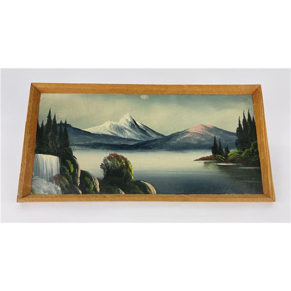 Antique Montana Lake Painting