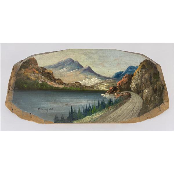 Antique Glacier Park Tourist Plein Air Painting