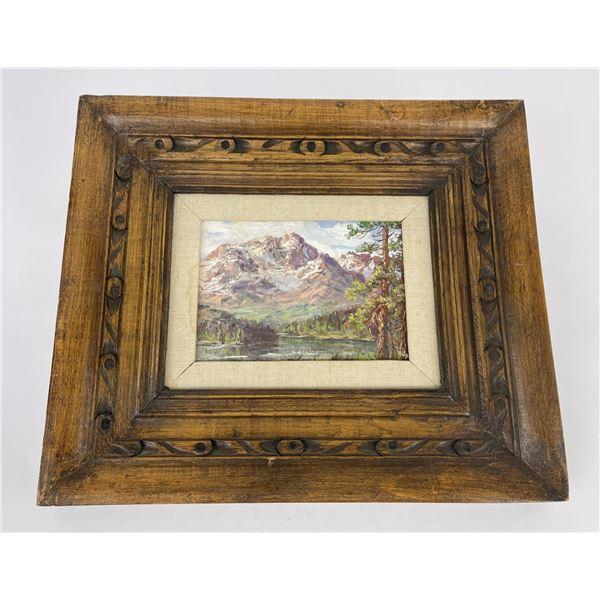 Douglas Miley Montana Mountain Oil on Canvas