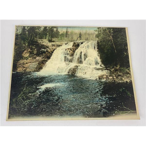 Antique Dickson North Dakota Falls Tinted Photo