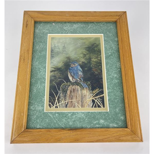 Signed and Numbered Bluebird Print