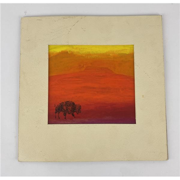 Rick Newlon Montana Buffalo Painting