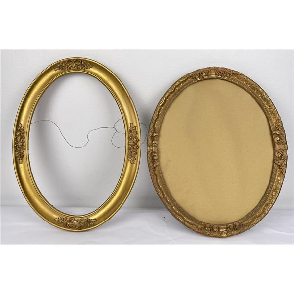 Pair of Antique Oval Frames