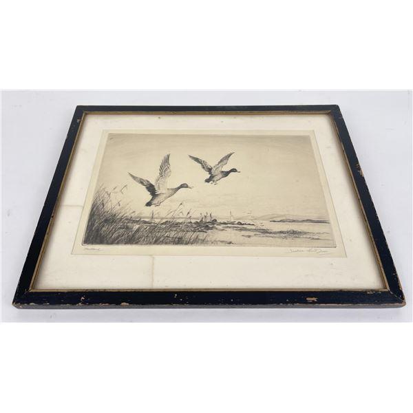 Henry Jackson Simpson Engraving Ducks