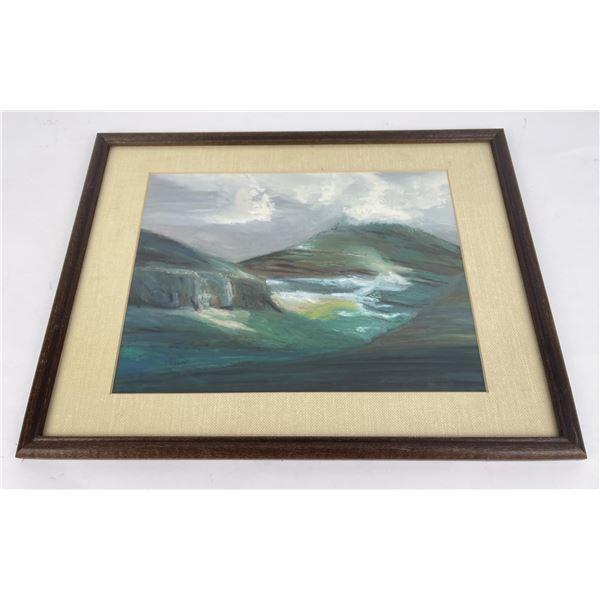 Paul Scherner Oil Pastel Painting on Board