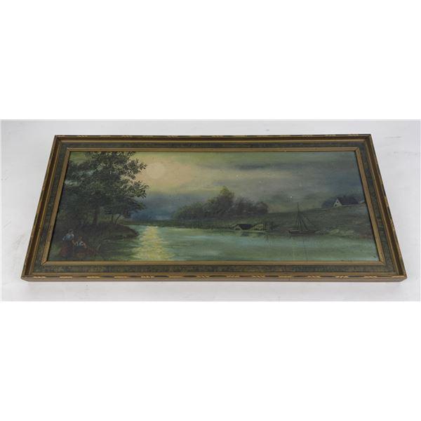 Antique Hudson River School Painting