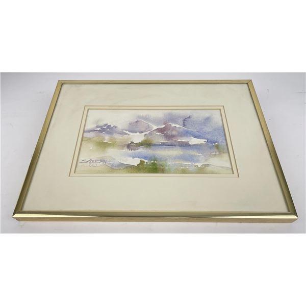 Montana Landscape Watercolor Painting